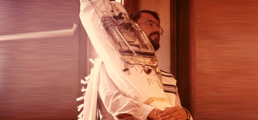 Bernd with Torah scroll